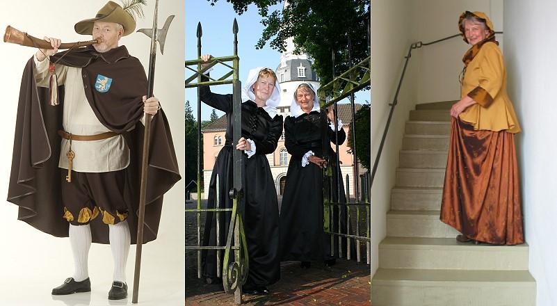 Kostumführungen mit dem Türmer, dem Fräulein Maria und der Bettmeisterin (Kastellanin)
