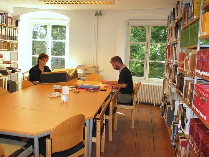 Leseraum Bibliothek Schloss Jever