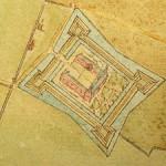 62 Eine handgezeichnete Landkarte von 1685
