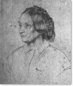 Bildnis der Mutter. Bleistiftzeichnung, 1863