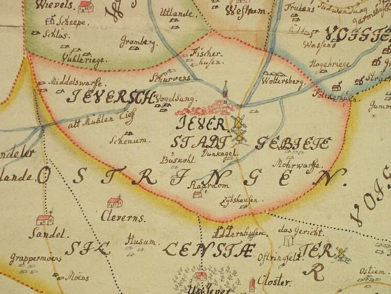 Landkarten und Pläne aus der Bibliothek des Schlossmuseums