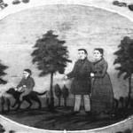 10 Bemalter Kofferkasten aus dem 19. Jahrhundert