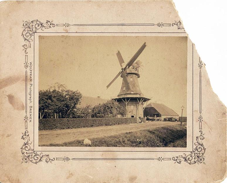 Schlachtmühle Jever mit Pferdefuhrwerk
