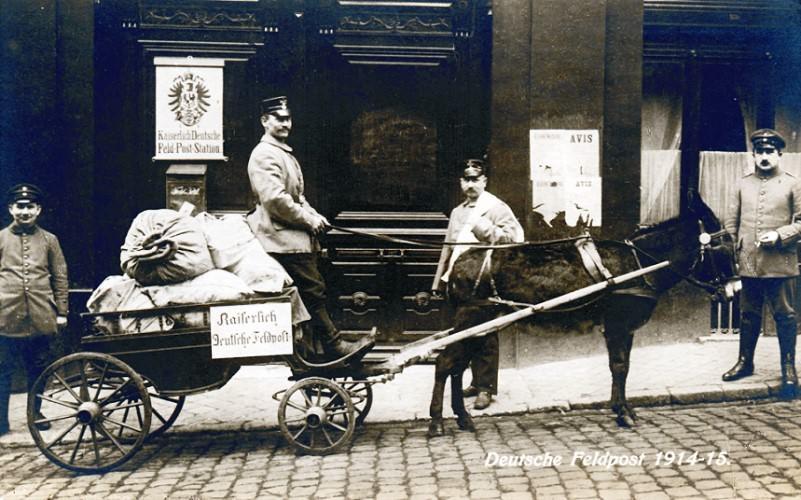 Deutsche Feldpost. Postkarte, um 1915