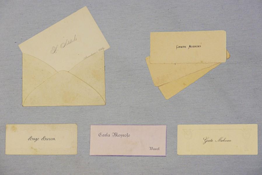 Visitkarten, 1900- 1920