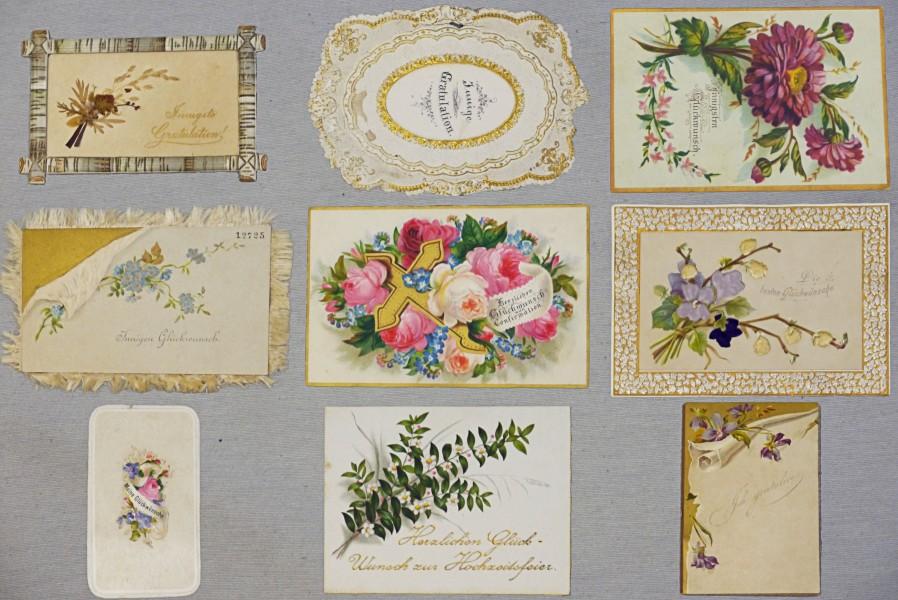Glückwunschkarten, 1880- 1950