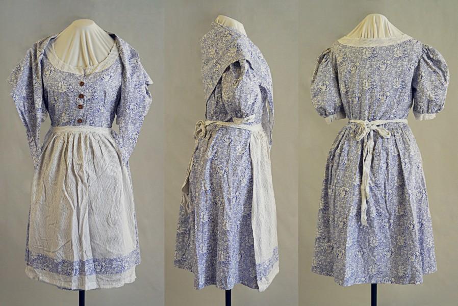 Nachkriegskleid aus Bettwäsche, ca. 1946