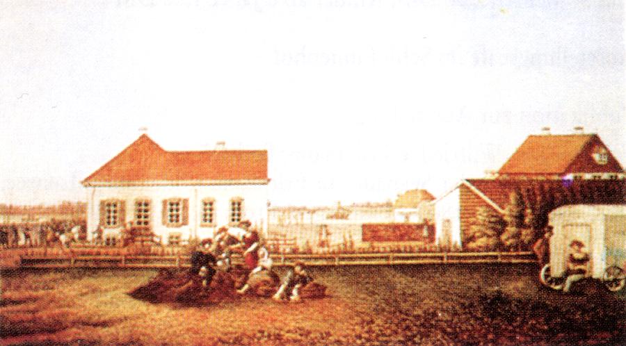 Seebadeanstalt zu Dangast. Lithographie. Um 1830