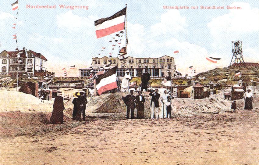 Nordseebad Wangerooge. Ansichtspostkarte. Poststempel 23.9.1914