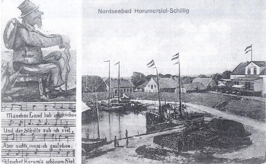 Nordseebad Horumersiel-Schillig. Ansichtspostkarte. Poststempel 5.12.1914