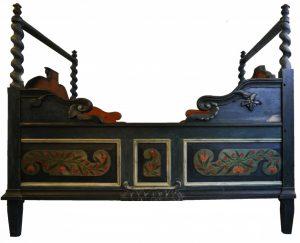 Himmelbett, zweite Hälfte 18. Jahrhundert, Holz, Foto: Patrick Schröder