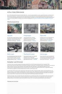 Bildschirmfoto Werkverzeichnis Arthur Eden-Sillenstede www.eden-sillenstede.de