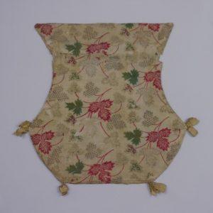 Frauentasche, 18. Jh. Baumwolle, bedruckt.