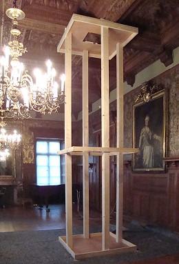 Restaurierungsarbeiten im Audienzsaal