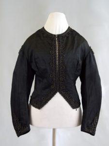 Zuavenjacke (Damenjacke). nach 1860. Seide, Baumwolle, Glasperlen.