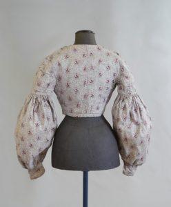 Damenjacke (Rückenansicht). Zwischen 1820-1850. Baumwolle, bedruckt.
