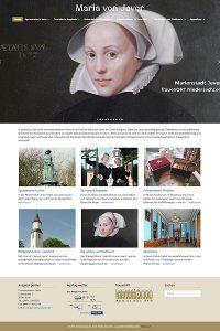 Bildschirmfoto frauenORT Maria von Jever www.maria-von-jever.de