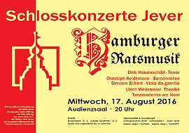 Schaukasten - Schlosskonzert - Hamburger Ratsmusik mit Dirk Hauenschild (Tenor)