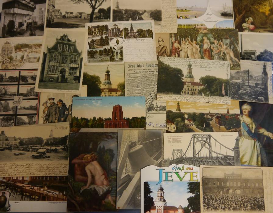Der Postkarten-Bestand im Schlossmuseum Jever