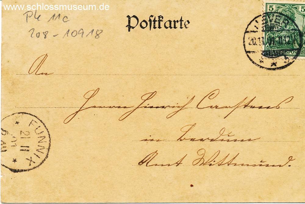 Früher war die Vorderseite nur für die Adresse vorgesehen. Auf der Rückseite war das Motiv mit oder ohne Platz für handschriftliche Mitteilungen