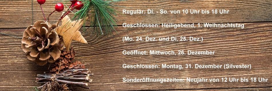 Öffnungszeiten im Schlossmuseum Jever um die Weihnachtstage 2018