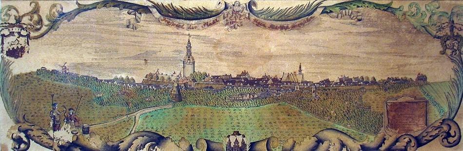 Stadtansicht Jever 1741