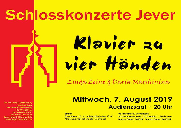 Schlosskonzert 2019: Klavier zu 4 Händen