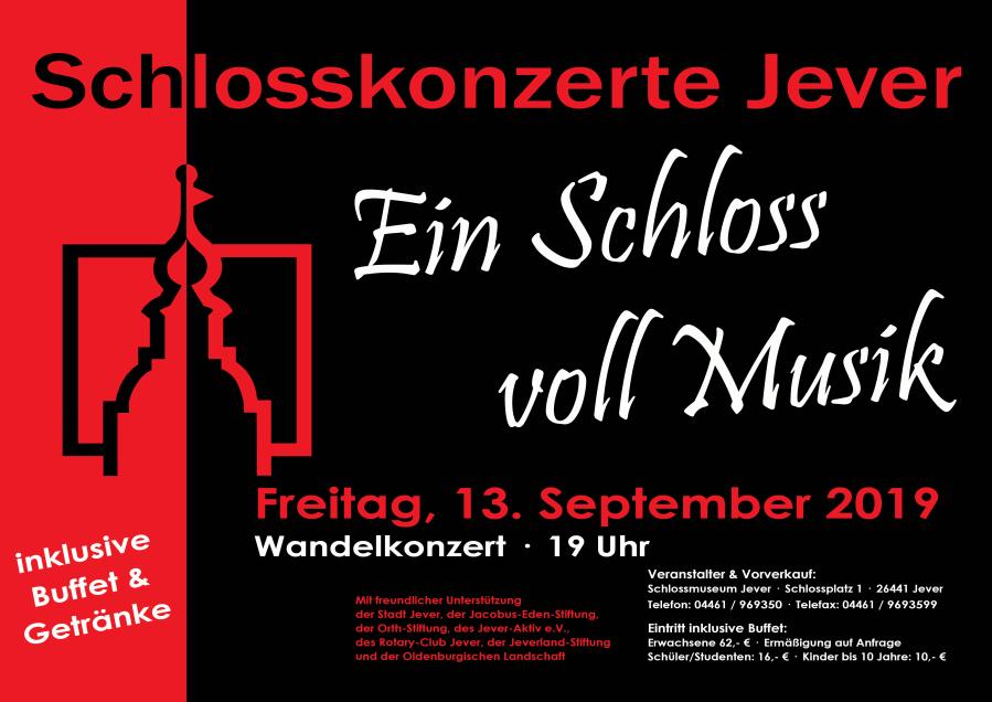 Wandelkonzert im Schloss Jever 2019