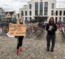 DEHOGA-Demonstration auf dem Marktplatz in Jever 8