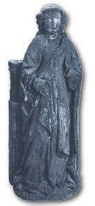 Heilige Barbara. Sillenstede, um 1500. Eichenholz, H. 99 cm
