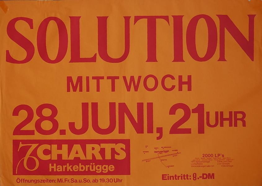 Solution, 28. Juni 1978, Charts, Harkebrügge