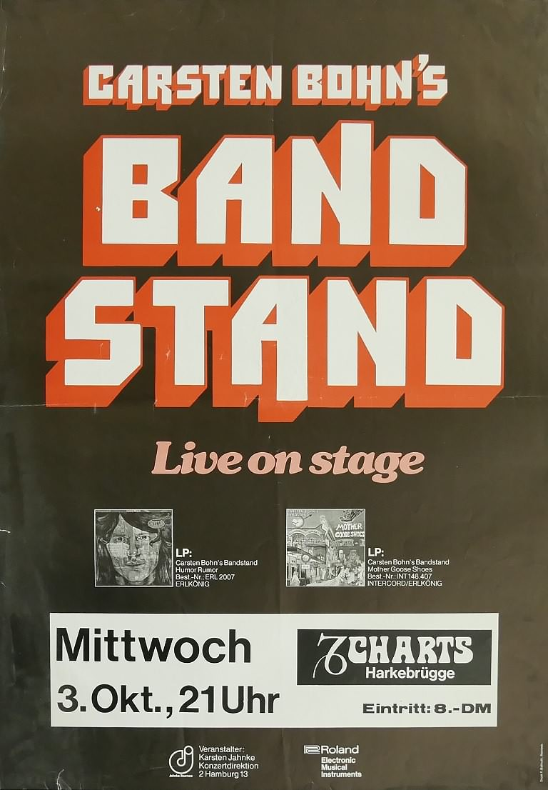 Carsten Bohn's Bandstand, 3. Oktober 1979, Charts, Harkebrügge