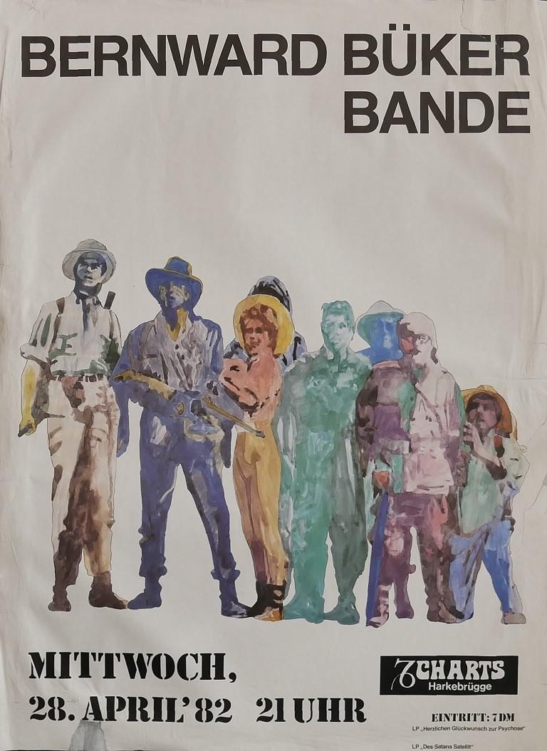 Bernward Büker Bande, 28. April 1982, Charts, Harkebrügge