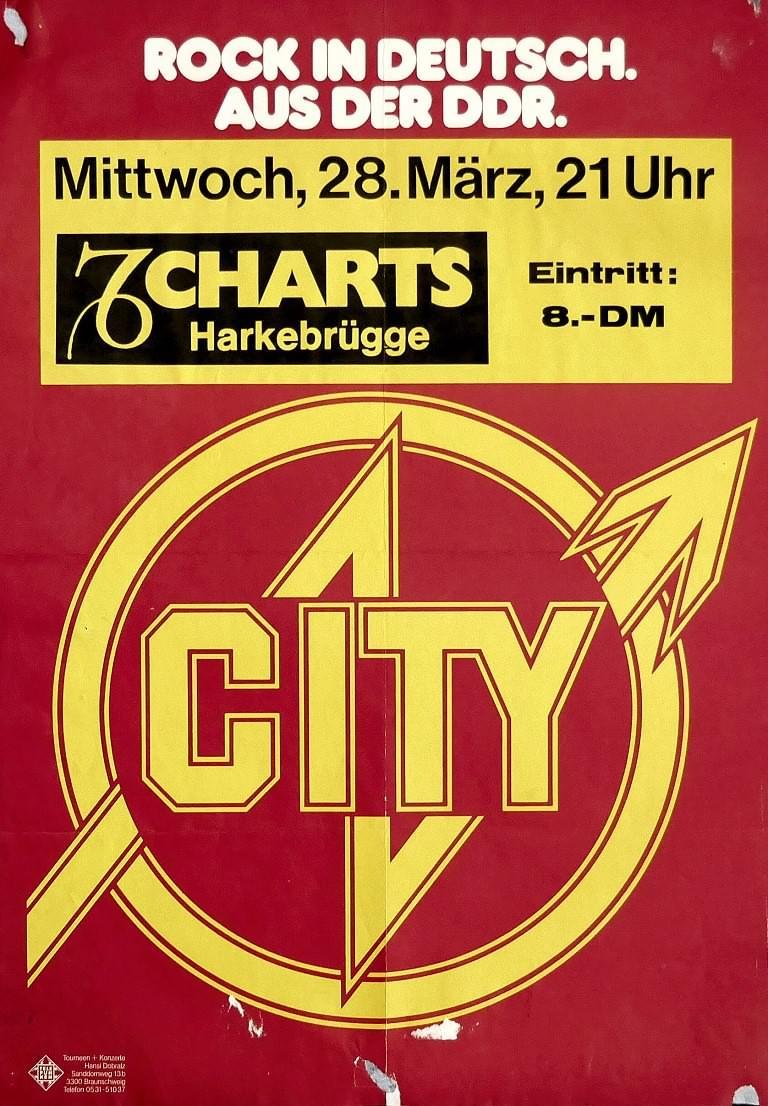 City, 29. März 1979, Charts, Harkebrügge