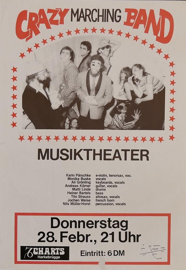Crazy Marching Band, 28. Februar 1980, Charts, Harkebrügge