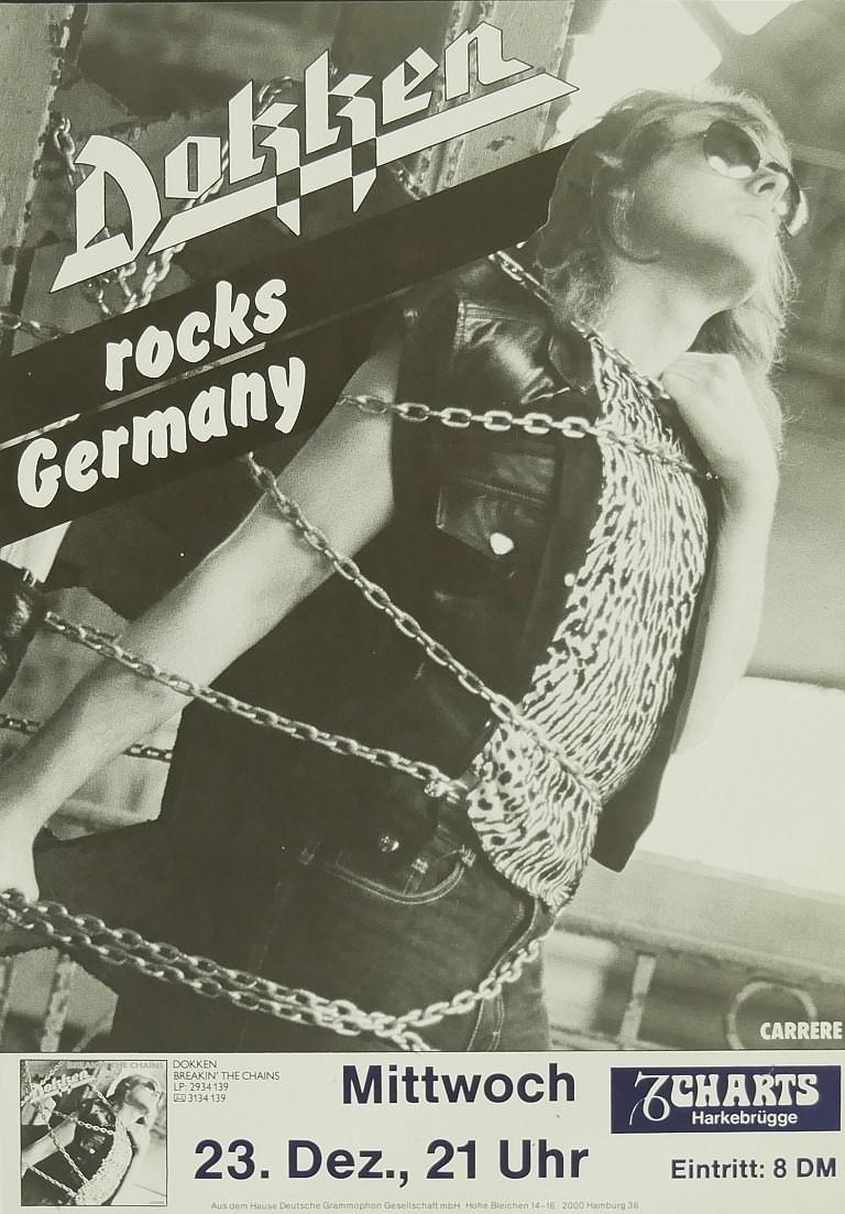 Dokken, 23. Dezember 1981, Charts, Harkebrügge