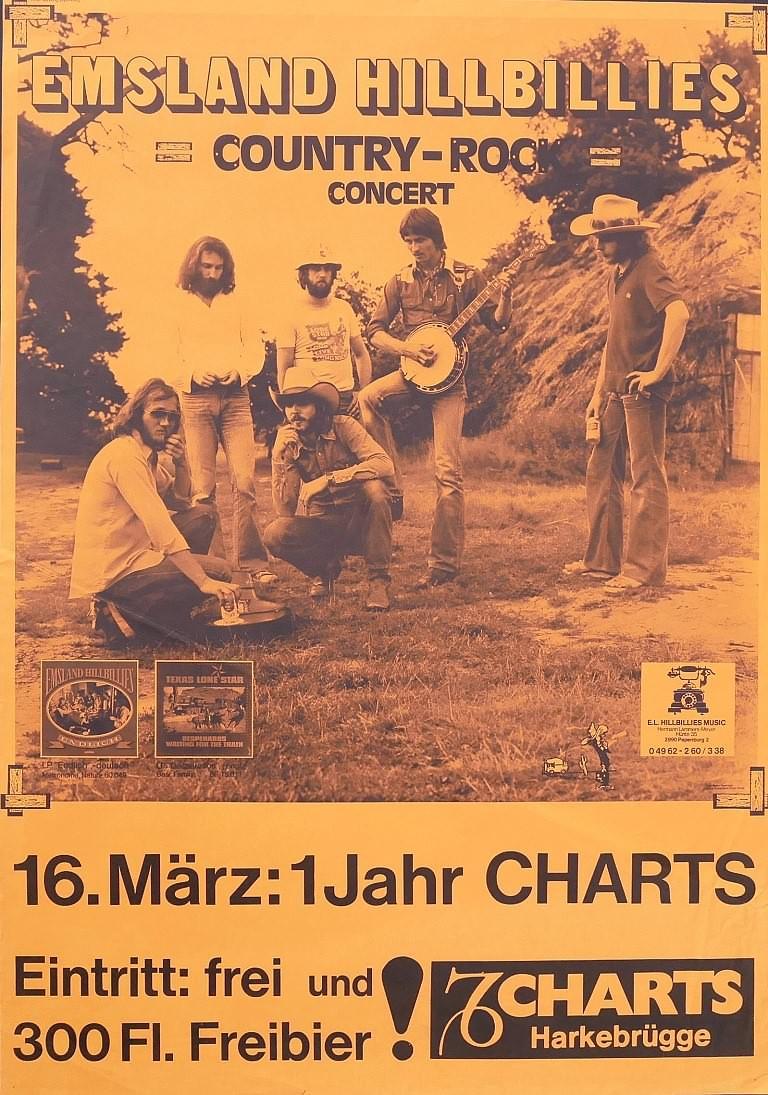 Emsland Hillbillies, 16.03.1979, Charts, Harkebrügge