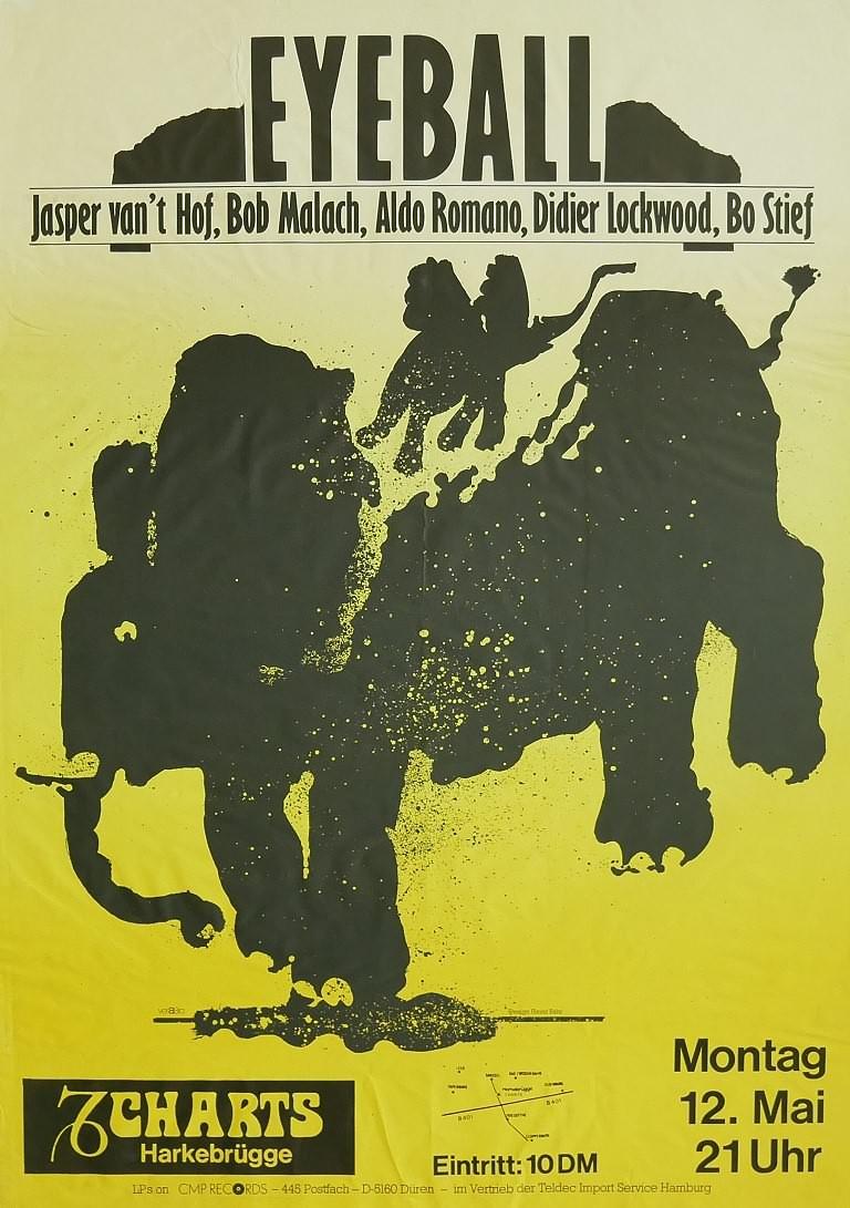 Jasper Van't Hof's Eyeball, 12. Mai 1980, Charts, Harkebrügge
