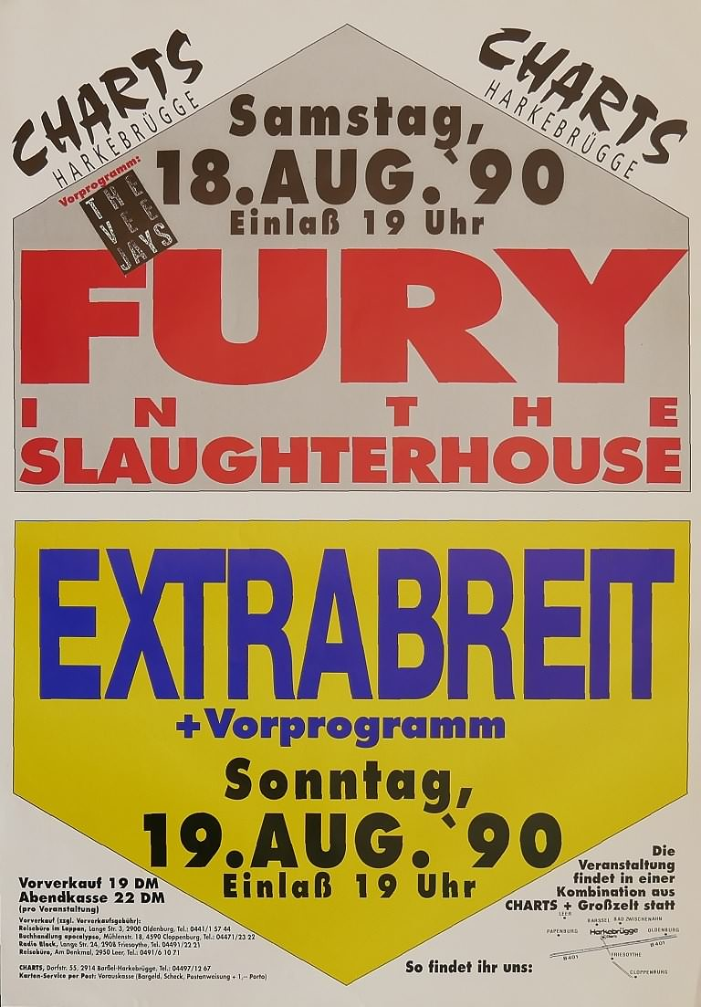 Fury in the Slaughterhouse, 18. August 1990 / Extrabreit, 19. August 1990