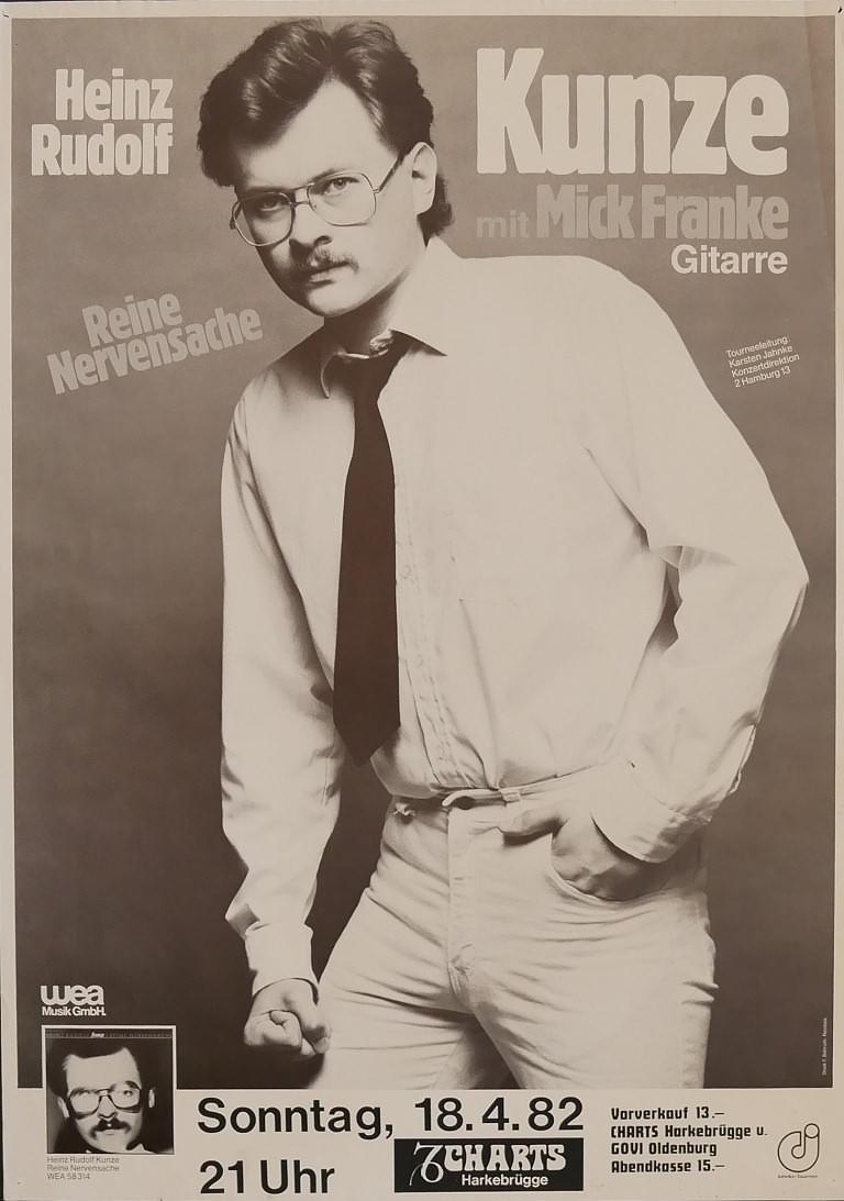Heinz Rudolf Kunze, 18. April 1982, Charts, Harkebrügge