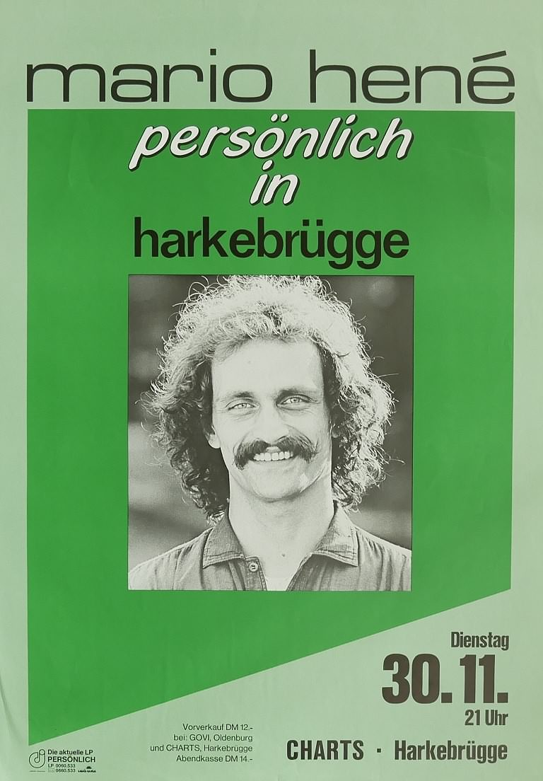Mario Hené, 30. November 1982, Charts, Harkebrügge