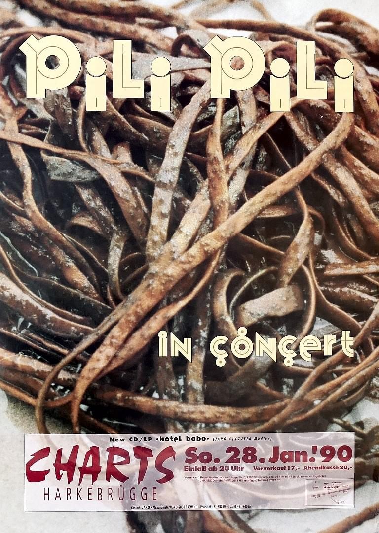 Pili Pili, 28. Januar 1990, Charts, Harkebrügge