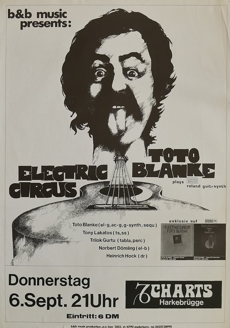 Toto Blanke Electric Circus, 6. September 1979, Charts, Harkebrügge