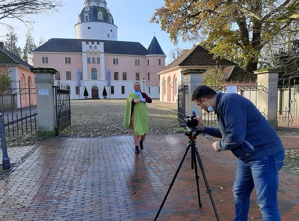 Basel Mansour bei den Video-Aufnahmen mit Franz Fendt