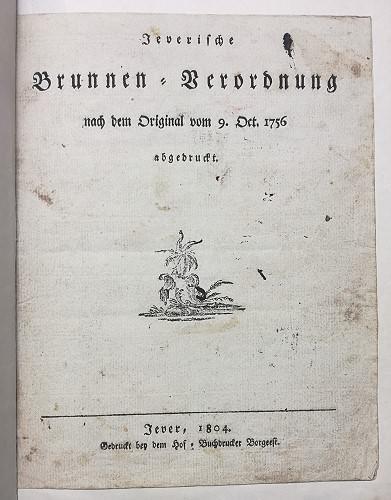 Jeversche Brunnenverordnung, Püttbier Wangerstraße