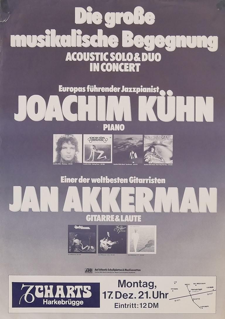 Joachim Kühn & Jan Akkerman, 17. Dezember 1979, Charts, Harkebrügge